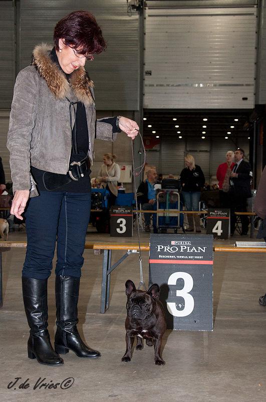 Brabanthallen Den Bosch, 23 oktober 2011, Britt van Odijkershof behaalde een 3e plaats met een uitmuntend (in de tussenklasse).